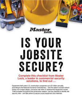 Is your jobsite secure?
